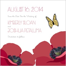 Save the Date Card - poppy love