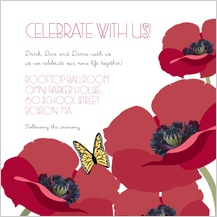 Reception Card - poppy love