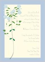 Wedding Invitation - lyrical phlox