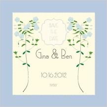 Save the Date Card - lyrical phlox