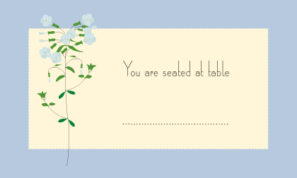 Place Card - lyrical phlox