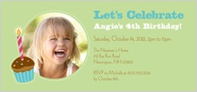 Birthday Party Invitation with photo - birthday wishes