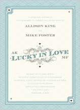 Wedding Invitation - lucky in love
