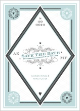 Save the Date Card - lucky in love