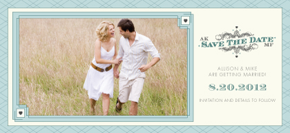 Save the Date Card with photo - Lucky in Love
