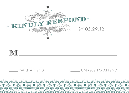 Response Card - Lucky in Love