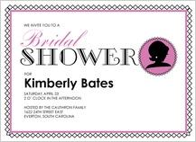 Wedding Shower Invitation - cameo