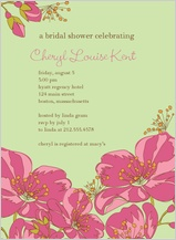 Wedding Shower Invitation - very floral