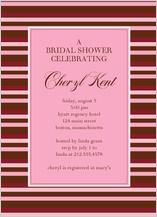 Wedding Shower Invitation - shower stripes