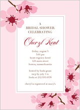 Wedding Shower Invitation - cherry blossom showers
