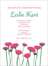 Wedding Shower Invitation - sweet pink flowers