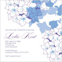 Wedding Shower Invitation - hydrangea showers
