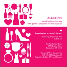 Wedding Shower Invitation - bridal shower silhouette