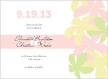 Save the Date Card - plumeria pastels