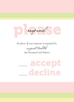 Response Card - Plumeria Pastels