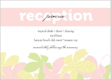 Reception Card - plumeria pastels
