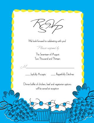 Response Card - Wedding Cake