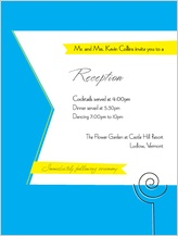 Reception Card - wedding cake