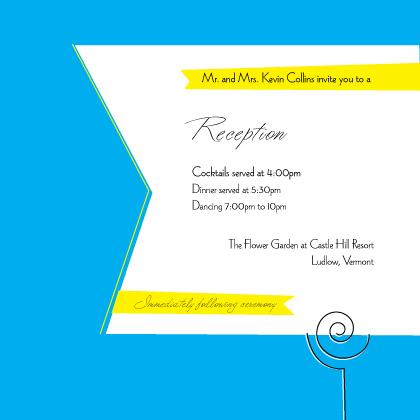 Reception Card - Wedding Cake