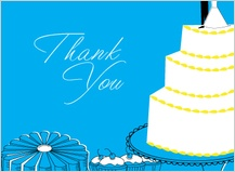Wedding Thank You Card - wedding cake