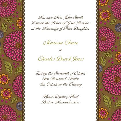 Wedding Invitation - Garden Party