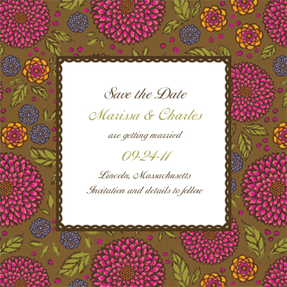 Save the Date Card - Garden Party