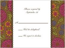Response Card - garden party