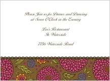Reception Card - garden party