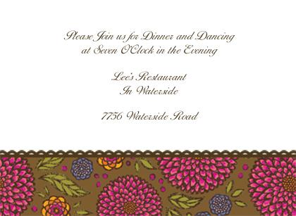 Reception Card - Garden Party