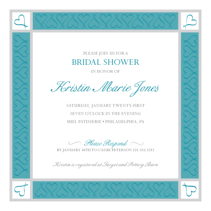 Wedding Shower Invitation - Surrounded By Love