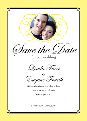 Save the Date Card with photo - Simply Monogram
