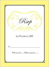 Response Card - simply monogram
