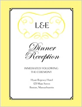 Reception Card - simply monogram