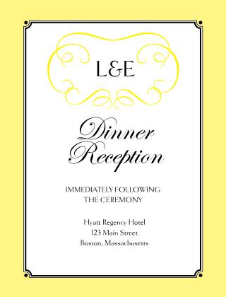 Reception Card - Simply Monogram