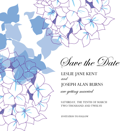 Save the Date Card - Simply Hydrangea
