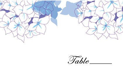 Place Card - Simply Hydrangea