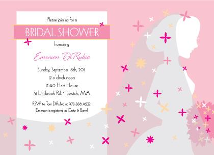 Wedding Shower Invitation - Beautiful Silhouette