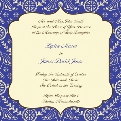 Wedding Invitation - Boho Birds