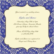 Wedding Shower Invitation - boho birds