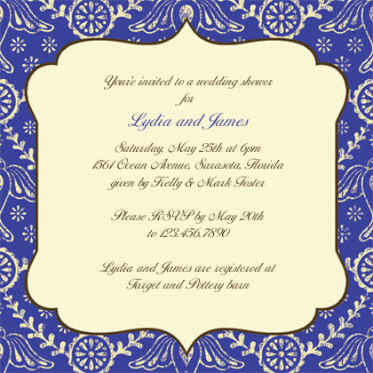 Wedding Shower Invitation - Boho Birds