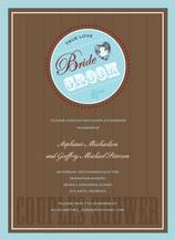 Wedding Shower Invitation - bride and groom 4ever shower