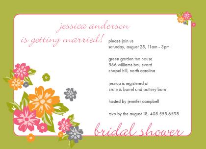 Wedding Shower Invitation - Spring Floral Wedding Shower Invitation