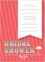 Wedding Shower Invitation - raining stripes shower
