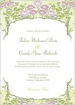 Wedding Invitation - floral arch