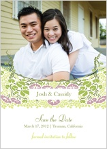 Save the Date Card with photo - floral arch
