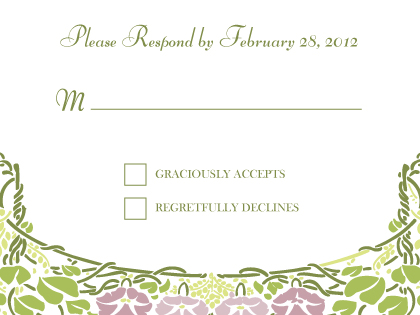 Response Card - Floral Arch