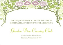 Reception Card - floral arch