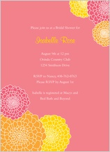 Wedding Shower Invitation - pink mums bridal shower
