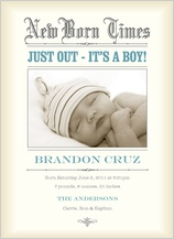 Birth Announcement with photo - new born times