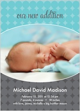 Birth Announcement with photo - new addition